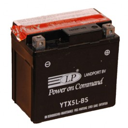 Landport YTX5L-BS D+ 12V 4Ah AGM starterski akumulator za motocikl