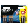 Duracell TURBO LR6 4+2 1.5V alkalna baterija