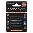 Panasonic eneloop Pro  AAA 1/4 1.2V 930mAh Ni-MH BK-4HCCE/4BE punjiva baterija