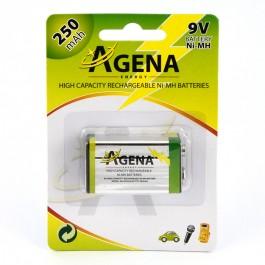 Agena Energy 9V 250mAh Ni-MH punjiva baterija