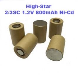 High-Star 2/3SC 1.2V 800mAh Ni-Cd industrijska punjiva baterija