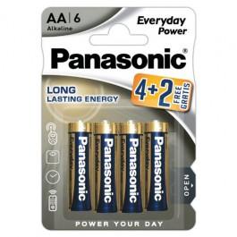 Panasonic Alkaline Everyday Power LR6 4+2 1.5V alkalna baterija