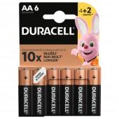Duracell BASIC LR6 4+2 1.5V alkalna baterija