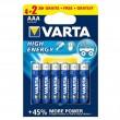 Varta Longlife Power LR03 4+2 1.5V alkalna baterija